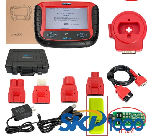 SKP1000 tablet auto key programmer latest software